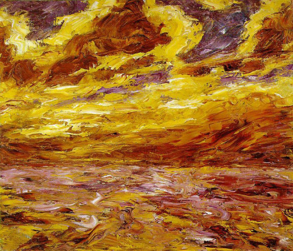 Эмиль Нольде «Осеннее море», 1910 год.