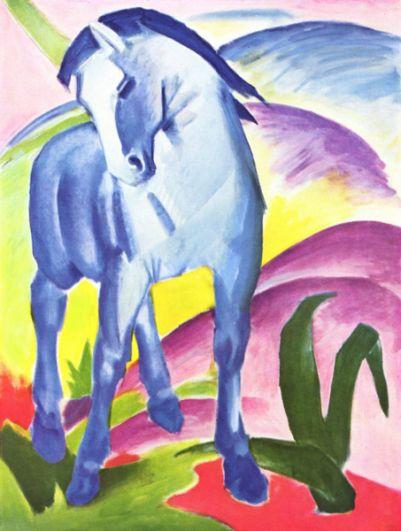 Франц Марк «Синий конь», 1911 год.