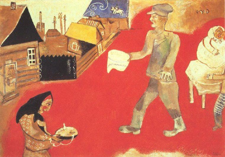 Марк Шагал «Пурим», 1911-1912 годы.