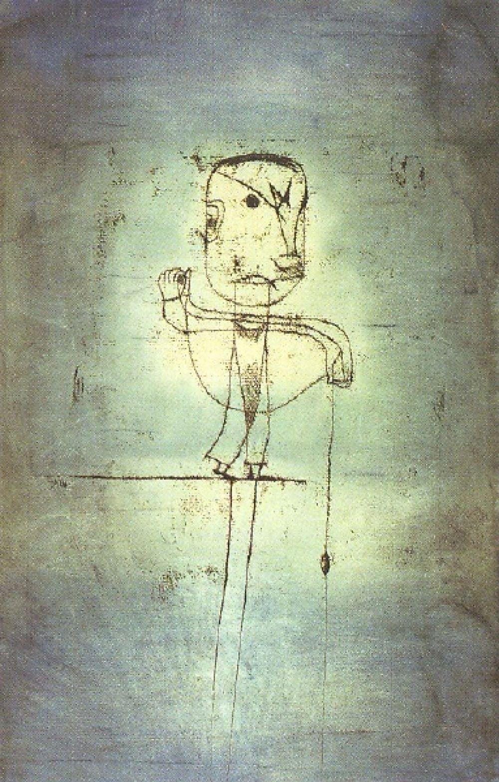 Пауль Клее «Рыболов», 1921 год.