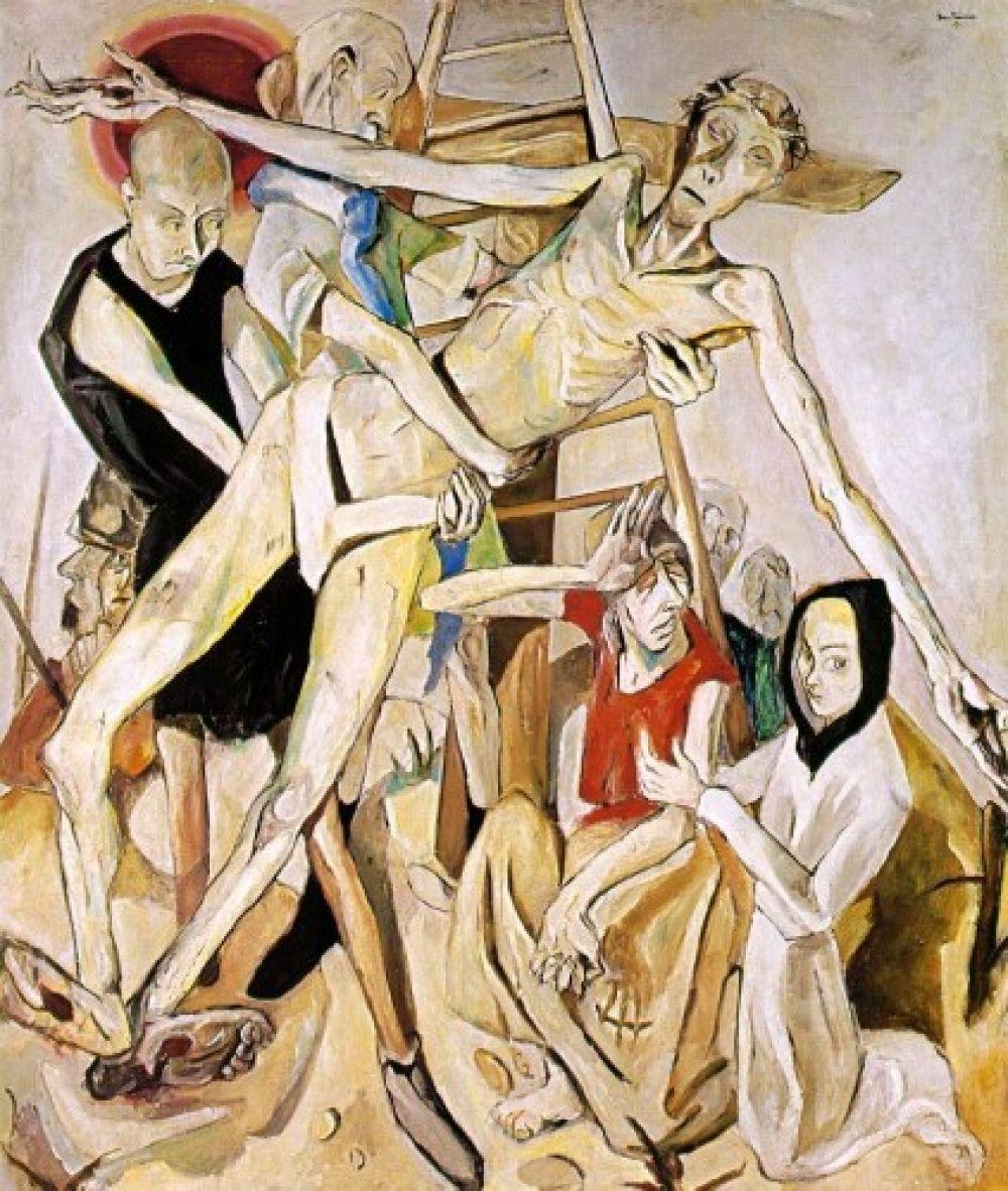Макс Бекман «Снятие с креста», 1917 год.