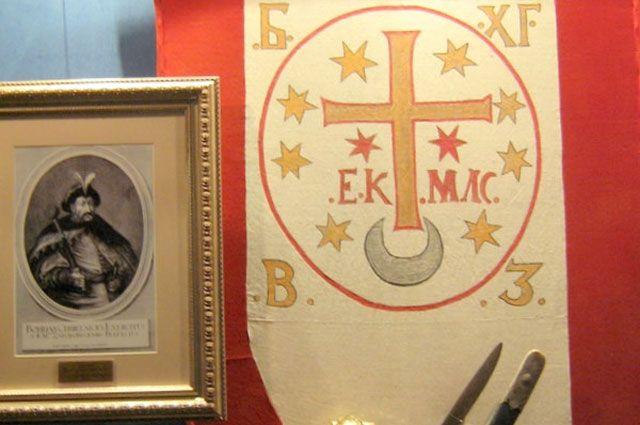 Как выглядит «флаг Богдана Хмельницкого»?