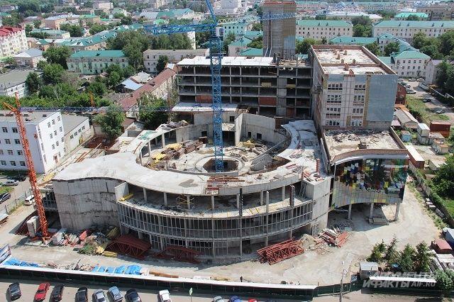 Так строительная площадка выглядит сейчас.
