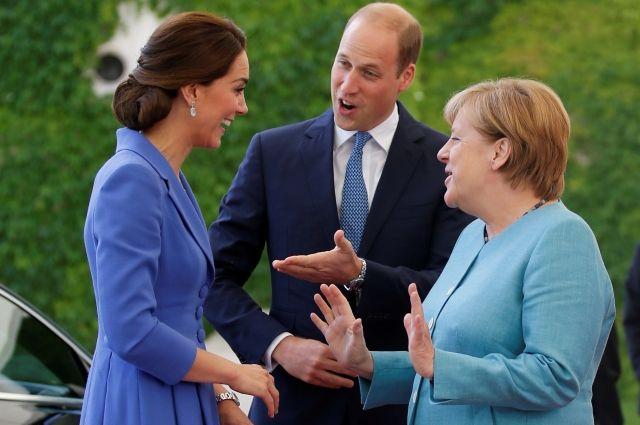 Принц Уильям и Кейт Миддлтон посетили резиденцию Ангелы Меркель