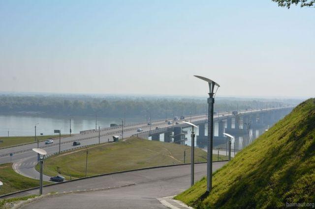 Вид с Нагорного парка Барнаула