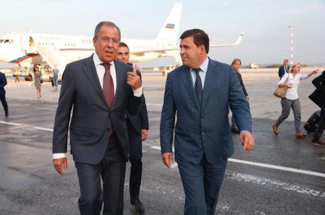 Министр иностранных дел Сергей Лавров высоко оценил успехи Свердловской области на международной арене.