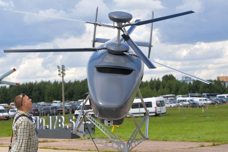 Первый российский беспилотный вертолет VRT-300, представленный на Международном авиационно-космическом салоне МАКС-2017 в подмосковном Жуковском.