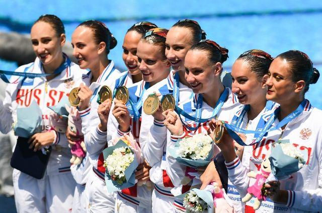 Русские синхронистки стали чемпионками мира в различной программе групп
