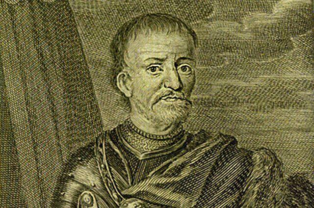Портрет-гравюра гетмана Войска Запорожского Ивана Мазепы, опубликованная в немецком издании в 1704 году.