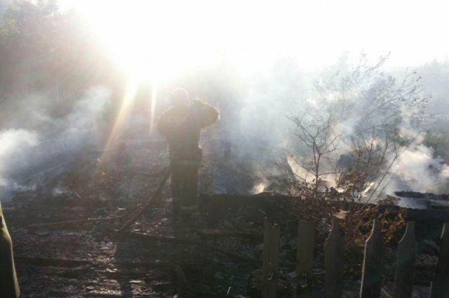 Житель Смоленской области погиб при пожаре в одном из частных подворий.