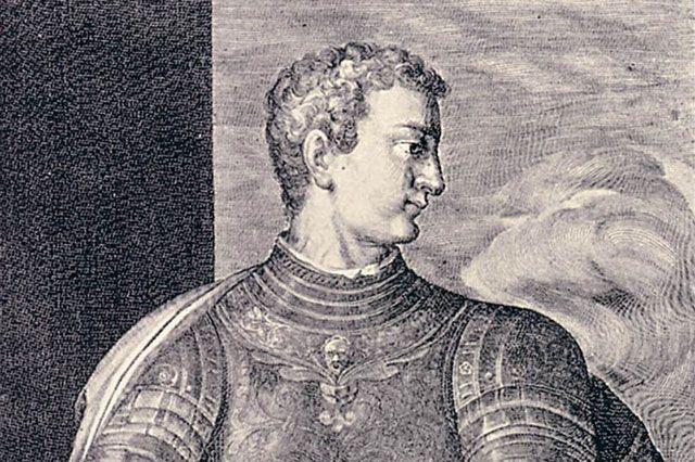 Калигула. Гравюра Эгидия Саделера.
