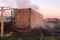 Возгорание деревянной постройки произошло в ночь на 24 июля.