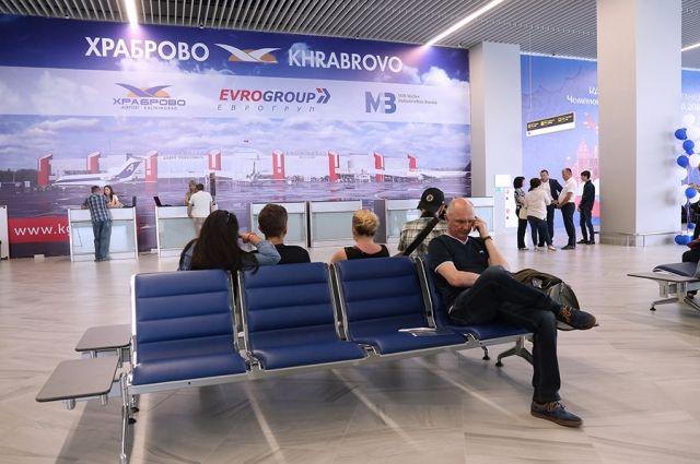 Отправлять пассажиров из нового терминала «Храброво» начнут в августе.