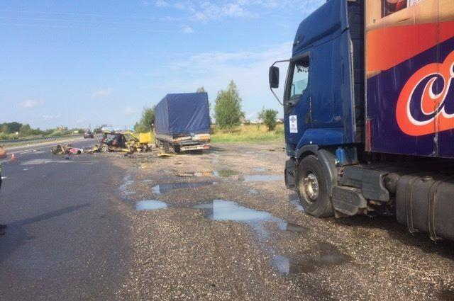 Заснул  зарулем: под Житомиром шофёр  влетел в грузовой автомобиль , погибли его дети