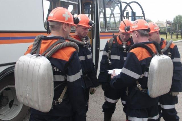 На кузбасской шахте произошел выброс угля газа.