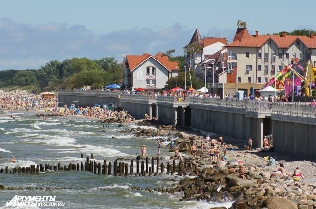 Пляж Зеленоградска, где произошла трагедия.