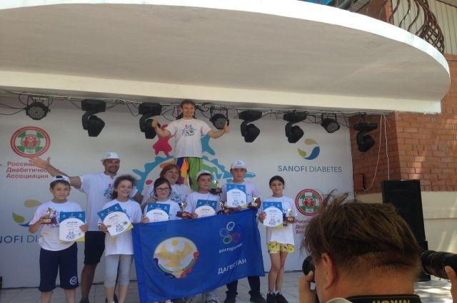 Дагестанским детям-диабетикам вручили приз зрительских симпатий наВсероссийской Диаспартакиаде