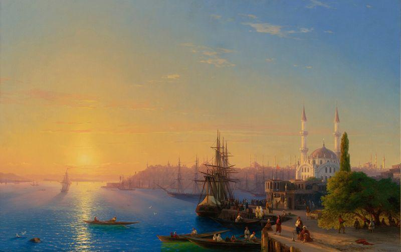«Вид Константинополя и Босфора», 1856 год.