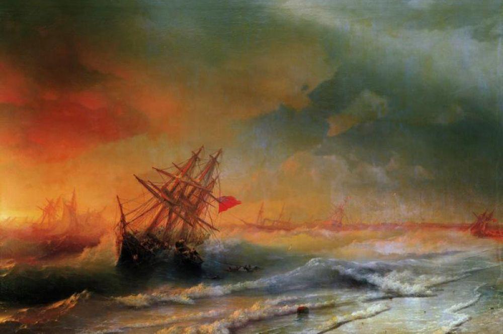 «Буря над Евпаторией», 1861 год.