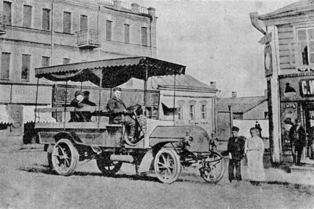 «Даймлер» в Марьиной Роще, 1907 год.