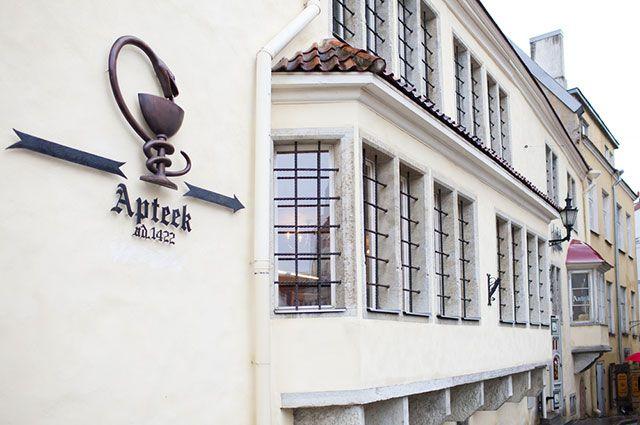 Ратушная аптека вцентре Таллина– самая старая действующая аптека вЕвропе,  работающая в этом здании сXVвека.