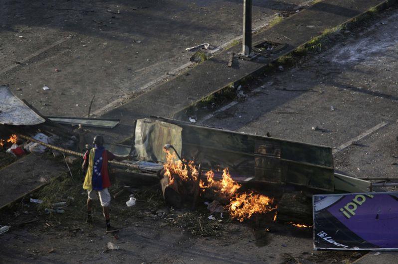 Массовые протесты в Венесуэле.