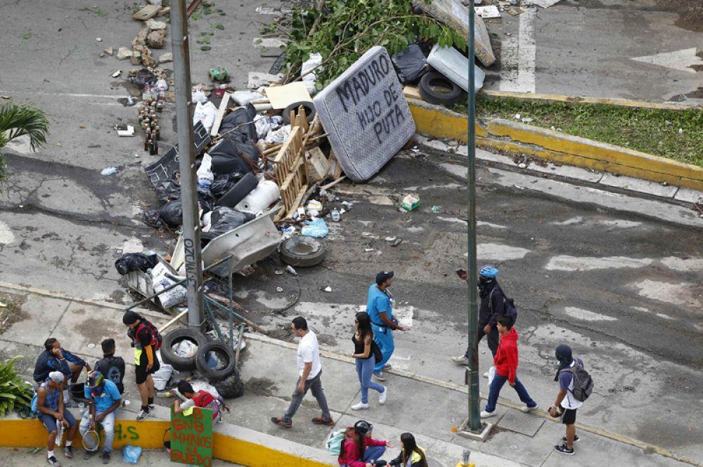 Беспорядки во время выборов учредительного собрания в Каракасе.