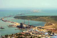 Строительство Керченского моста в Крыму.
