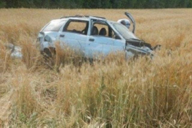 Машина вылетела с дороги в селе Анучино.