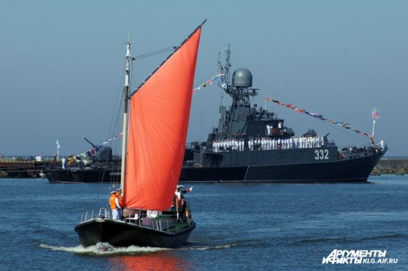 Парад кораблей в Балтийске.