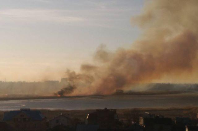 Лес рядом с озером Ханто горел по вине людей