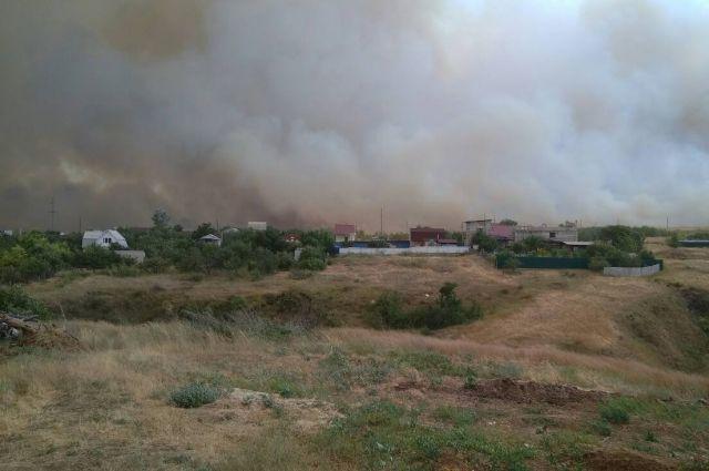 В Оренбуржье за сутки сгорело более 19 га степи.