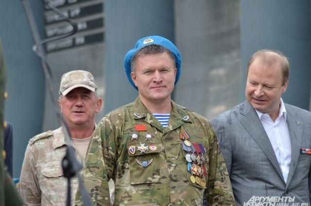 Председатель Союза десантников России в Свердловской области Евгений Тетерин.