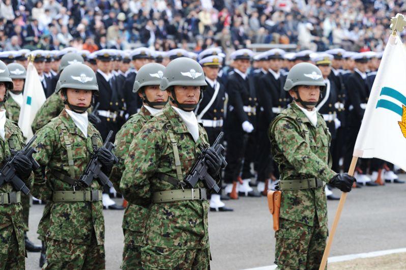 Япония. В состав сухопутных сил самообороны Японии входит 1-я воздушно-десантная бригада.