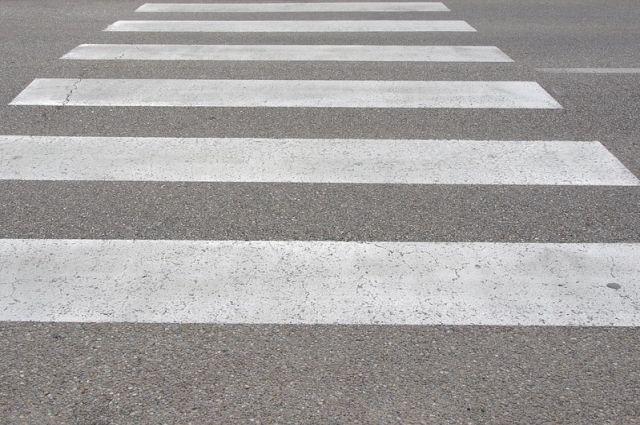 Женщина была сбита на пешеходном переходе.