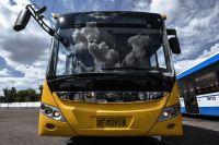 Китайский электробус Yutong: 73 пассажира, максимальная скорость - 69 км/ч, запас хода - 200 км.