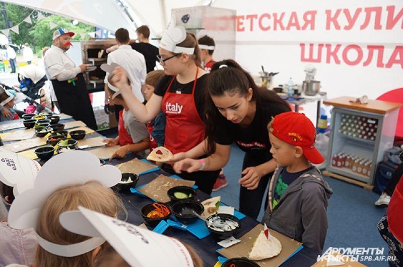 Для детей были организованы кулинарные мастер-классы.