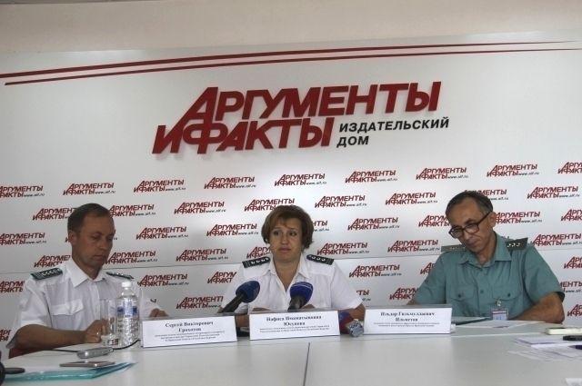 Сергей Грохотов, Нафиса Юсупова и Ильдар Ильметов.