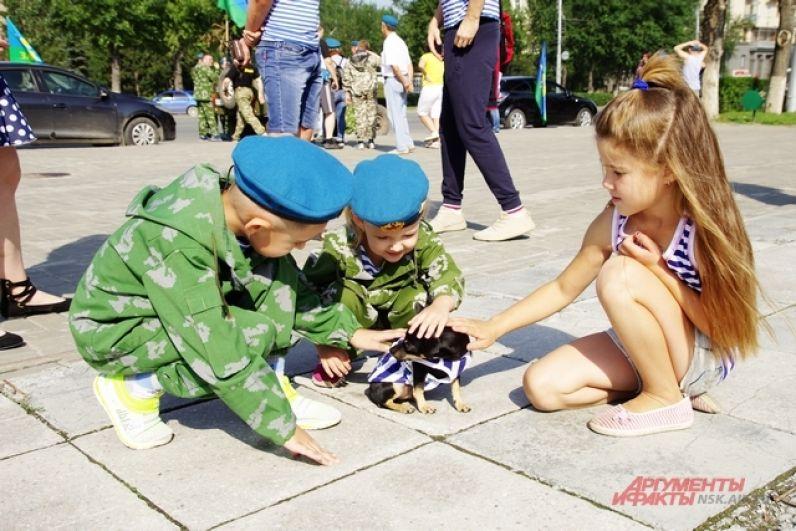 Праздник отмечали даже маленькие четвероногие жители Новосибирска