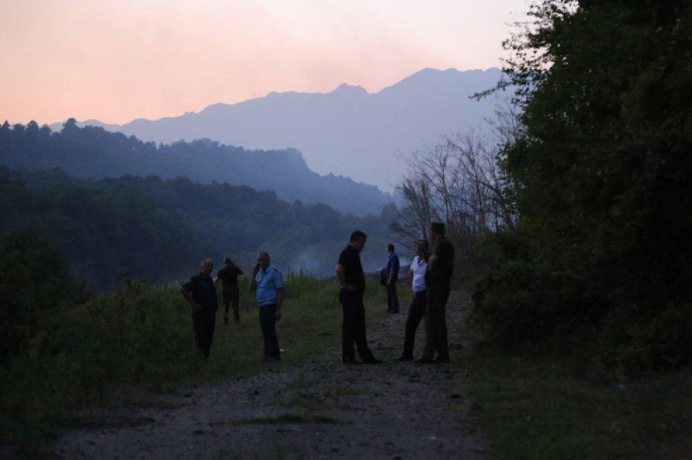 Село Приморское Гудаутского района, где взорвались боеприпасы на складе Минобороны Абхазии.