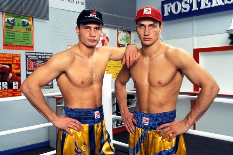 Братья Кличко в 1997 году.