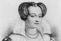 Маргарита де Валуа. Литография неизвестного автора.