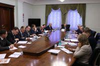 Аппаратное совещание под председательством губернатора Челябинской области Бориса Дубровского