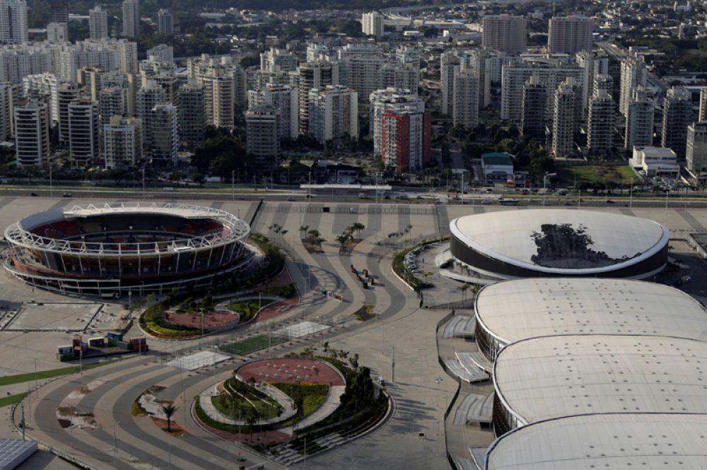Общий вид на Олимпийский парк.