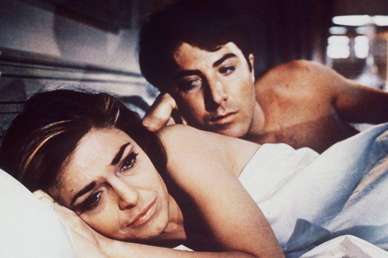 Фильм «Выпускник» (1967) называют кинематографическим дебютом Хоффмана. Актёр исполнил в нём роль Бенджамина Брэддока, молодого выпускника колледжа, соблазнённого более взрослой женщиной — миссис Робинсон, которую сыграла Энн Бэнкрофт. Не считая призов, присуждённых фильму и режиссёру, молодой актёр был отмечен премиями BAFTA и Золотой глобус за лучший дебют, а также номинирован на «Оскар» за лучшую мужскую роль.