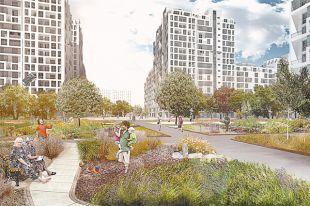 Предварительная идея кварталов по мнению программе реновации в Москве.