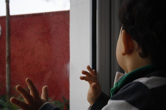 Ребёнок вылетел вместе с москитной сеткой.