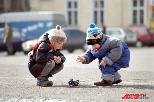 За год число детей в Калининградской области увеличилось на 5 тысяч.