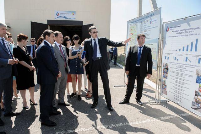 Алексей Гордеев и Игорь Левитин посетили воронежскую водоподъёмную станцию.