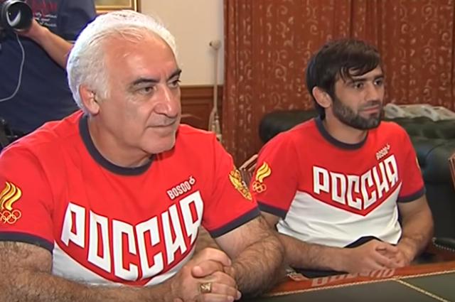 Рудольф Бабоян вместе с учеником Бесланом Мудрановым.